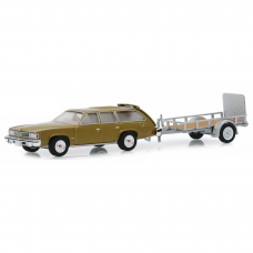 Hitch & Tow Serie 18 1977 Pontiac Lemans Safari 1/64 Cáqui