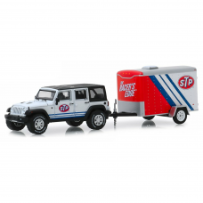 Hitch & Tow Serie 18 2015 Jeep Wrangler STP 1/64 Branco