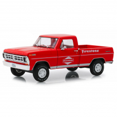 1971 Ford F-100 Firestone Tire Service Running On Empty 1/24 Vermelho