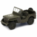 Jeep Willys 4,5pol Pull Back Verde Oliva