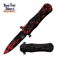 Canivete Dark Side Blades by Master Cutlery abertura assistida DS-A049RD