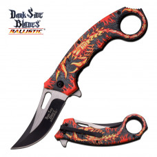 Canivete karambit Dark Side Blades by Master Cutlery abertura assistida DS-A052