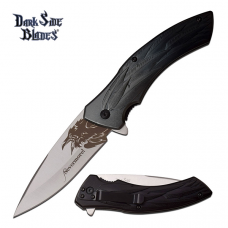 Canivete Dark Side Blades by Master Cutlery abertura assistida DS-A054BG