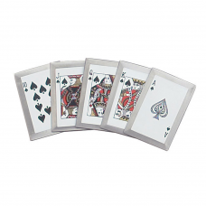 Kit com 5 cartas de arremesso Royal Flush
