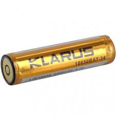 Bateria Klarus de Lítio recarregável 18650 com 3400mAh 3,7V. Pólos automáticos, magnética