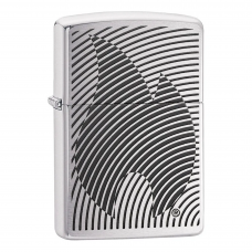 ISQUEIRO ZIPPO ILLUSION FLAME BRUSHED CHROM