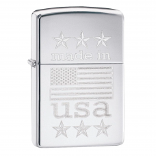ISQUEIRO ZIPPO MADE IN USA WITH FLAG