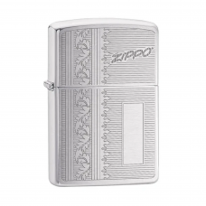 ISQUEIRO ZIPPO INITIAL PANEL BRUSHED CHROME